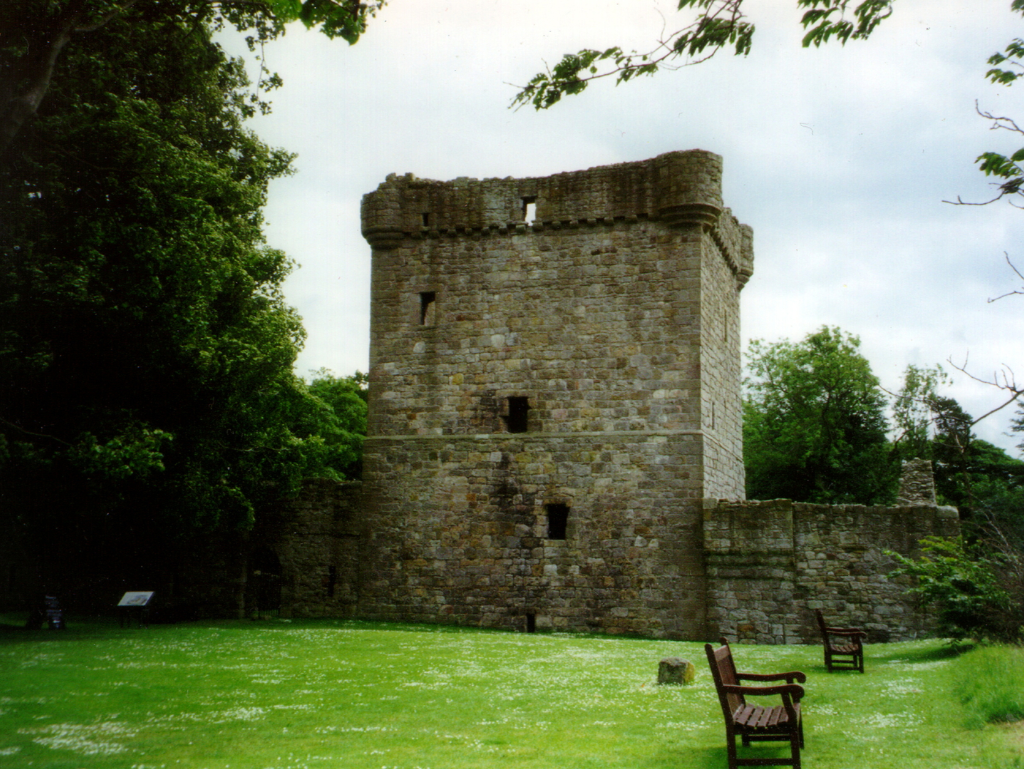 Lochleven Castle, a scenic ruinous castle of the Douglases on a wooded island in the picturesque loch, associated with Mary, Queen of Scots, and accessible from Kinross in Perthshire.