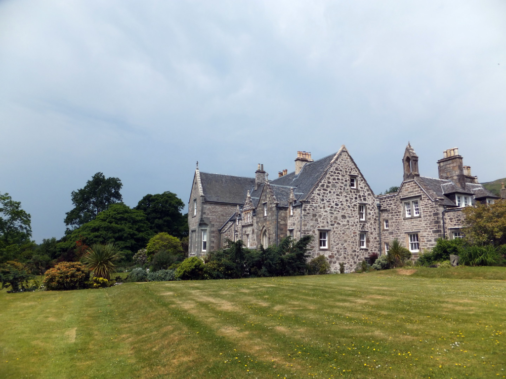 Ardchattan House and Gardens, by  Ardchattan Priory is an interesting ruinous old building by the mansion of Ardchattan House, long held by the Campbells, and featuring the pretty Ardchattan Gardens, standing by the shore of Loch Etive near Connel in Argy