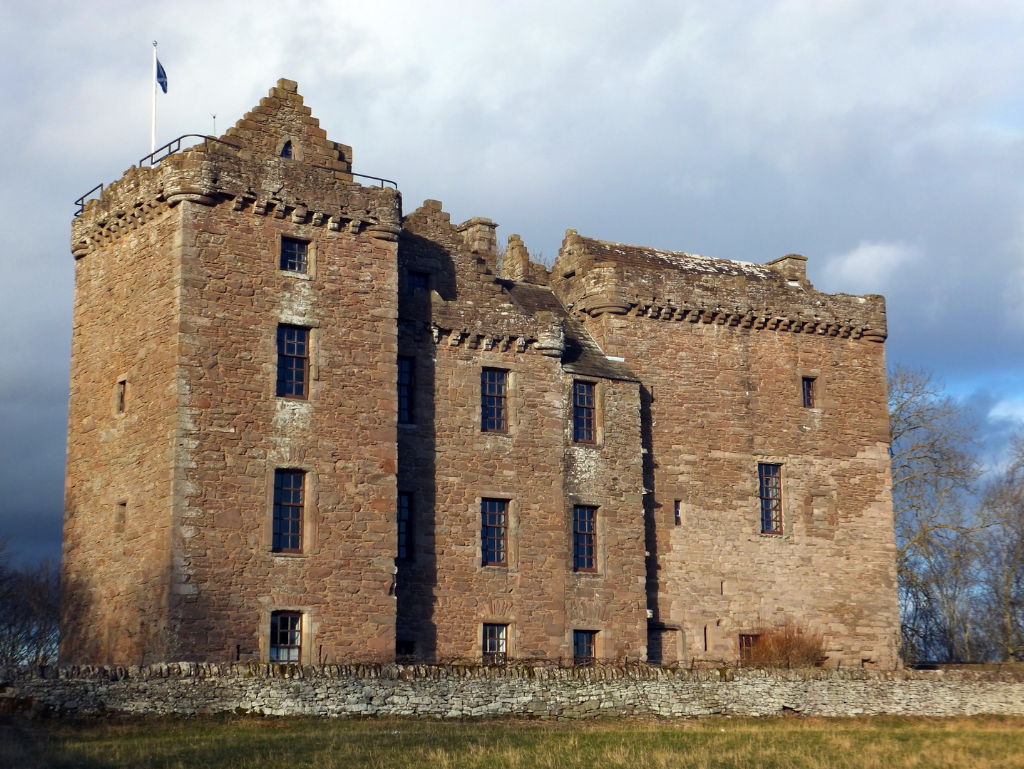 Huntingtower Castle is a handsome and atmospheric old castle and mansion near Perth in central Scotland, once home to the Ruthven Earls of Gowrie, then held by the Murrays, near Perth.