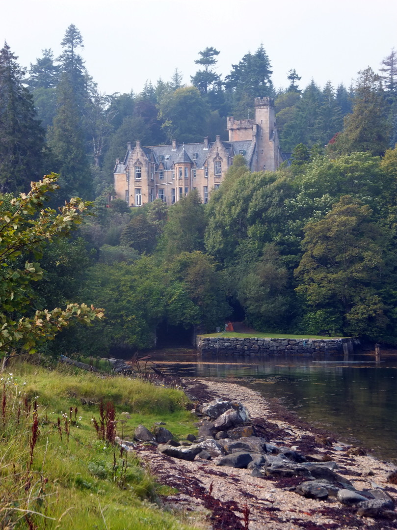 Stonefield Castle (Barmore), a large and attractive mansion set in a picturesque spot above the sea near Tarbert in Knapdale in Argyll in western Scotland, and held by the MacAllisters and the Campbells before becoming a hotel.
