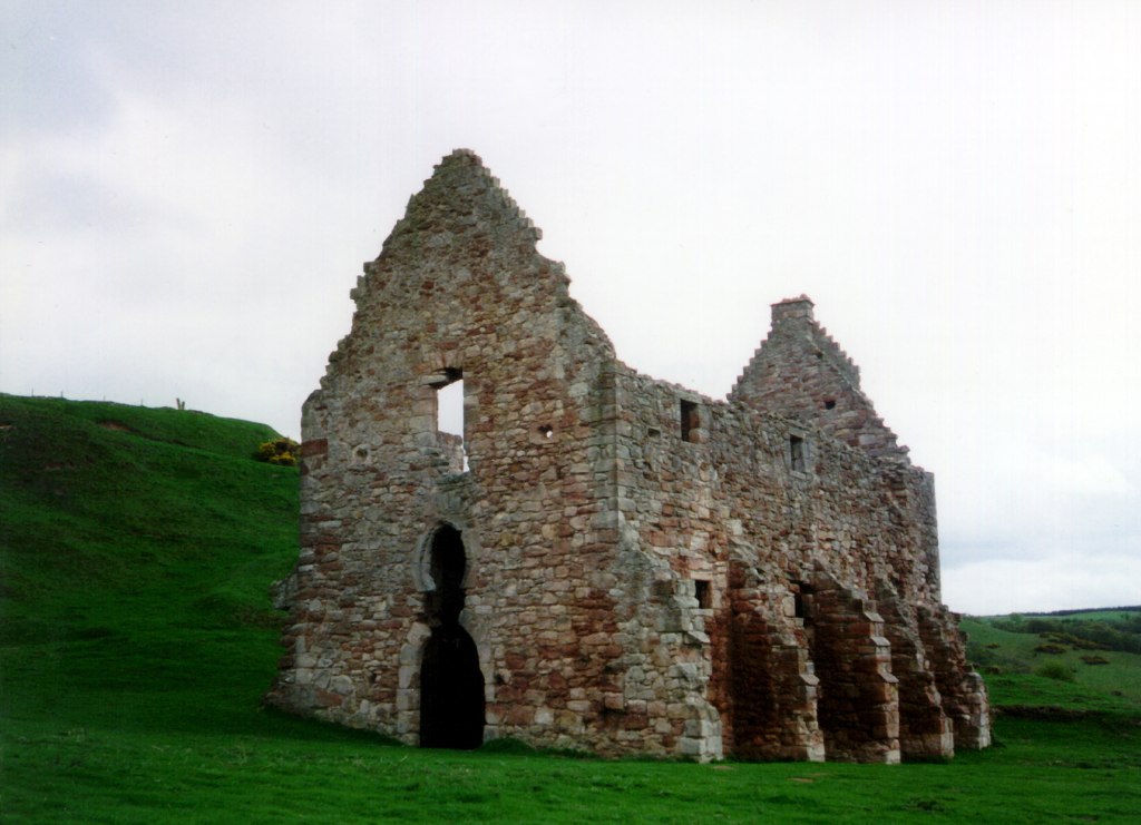 Stables of Crichton Castle, a fabulous ruined medieval castle in a pretty spot above the River Tyne, held by the Crichtons, Hepburn and Stewart Earls of Bothwell, near to Pathhead and Edinburgh