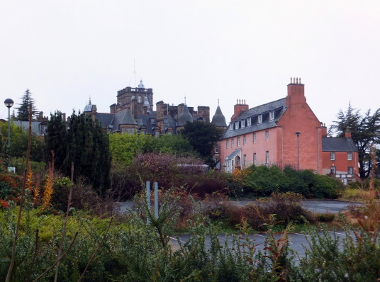 Craighouse is a fine tower and mansion, in the grounds of a former psychiatric hospital and then university, to the south-west of Edinburgh in central Scotland.