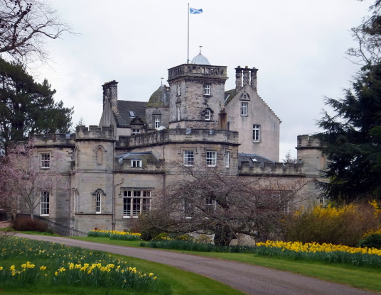 Winton Castle, a fine old Renaissance mansion incorporating a castle, long held by the Seton Earls of Winton, and standing in gardens and wooded policies near Pencaitland and Tranent in East Lothian in central Scotland.