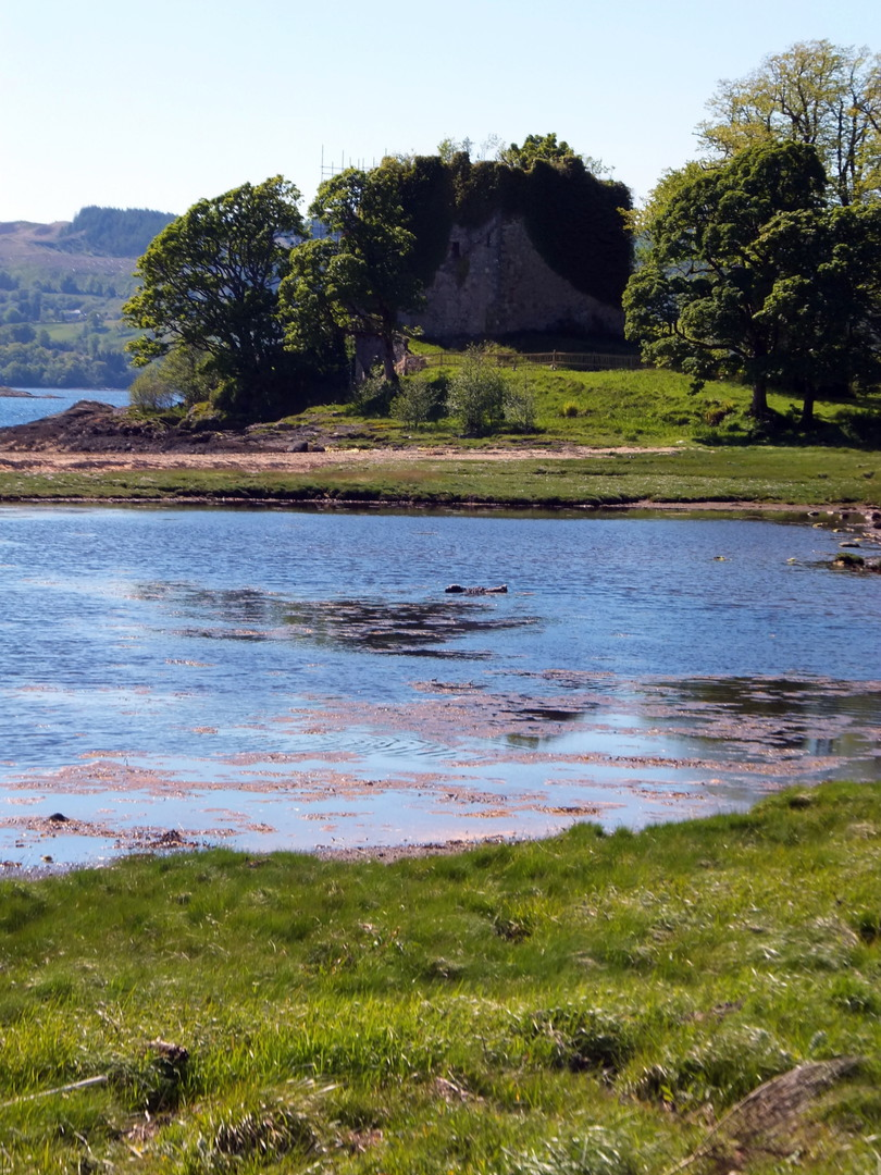 Castle Lachlan is an unusual and impressive old ruinous stronghold of the MacLachlans in a beautiful spot on the banks of Loch Fyne, near the new Castle Lachlan and an old chapel, south of Strachur on Cowal in Argyll on the west coast of Scotland.
