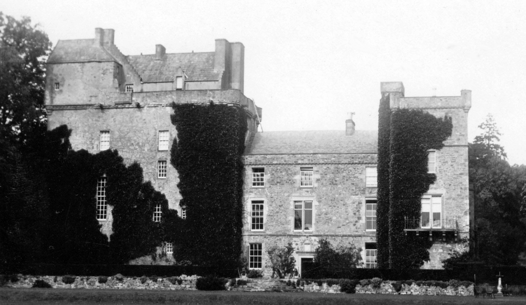 Lennoxlove House, a substantial old house incorporating a large tower with a fine interior and pretty gardens, long a property of the Mailtlands of Lethington but now home to the Duke of Hamilton, near Haddington in East Lothian in southeast Scotland.
