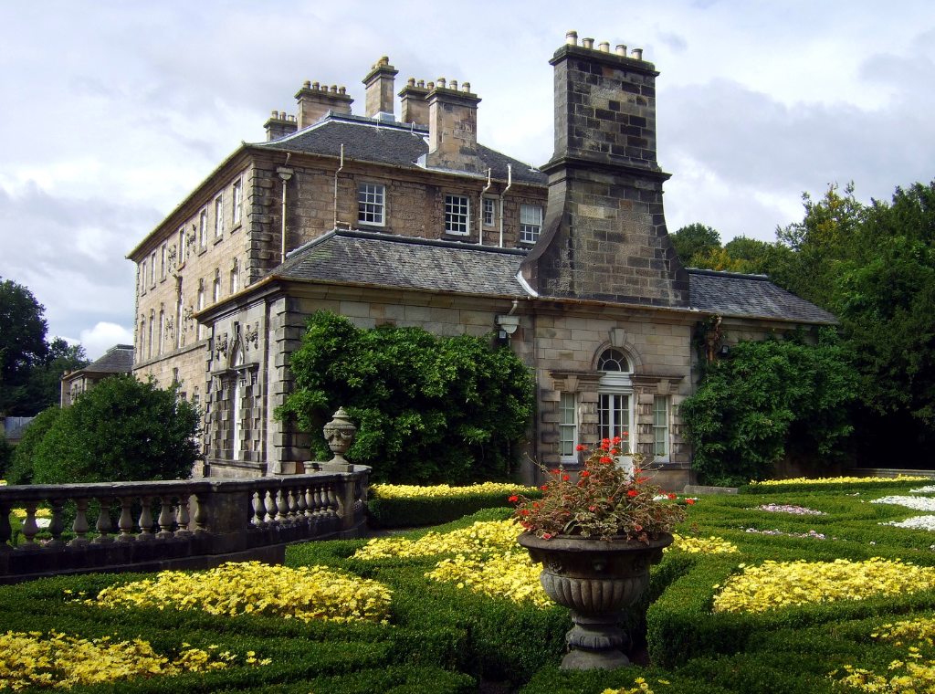Pollok House, an impressive classical mansion in colourful gardens, long held by the Maxwell family and located in Pollok Park to the south of Glasgow, home to the Burrell Collection, in central Scotland.