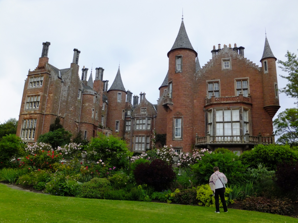 Tyninghame House, an impressive and muscular baronial mansion in beautiful gardens and expansive grounds, formerly held by the Lauders then the Baillie Hamilton Earl of Haddington and a few miles north of Dunbar in East Lothian.