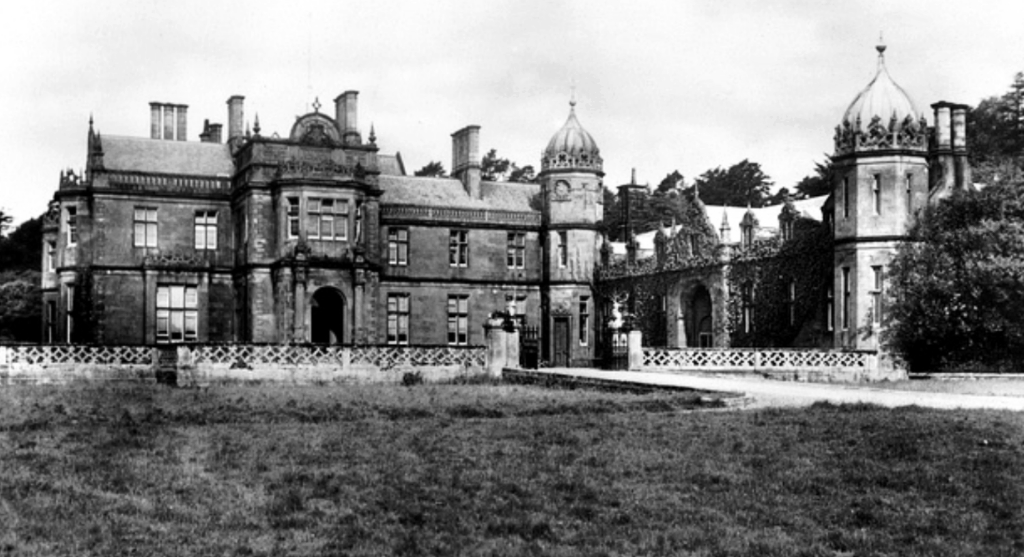 Poltalloch House, a ruinous old mansion of the Malcolm family, near Kilmartin and Loghgilphead in Argyll.