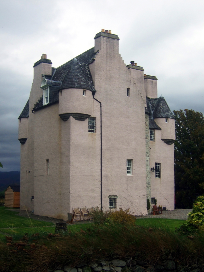 Barcaldine Castle, an impressive, restored old tower house, long held by the Campbells, in a peaceful and pretty spot near Benderloch and Oban in Argyll on the west coast of Scotland.