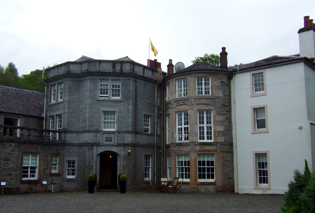 Barcaldine House, which replaced Barcaldine Castle, an impressive, restored old tower house, long held by the Campbells, in a peaceful and pretty spot near Benderloch and Oban in Argyll on the west coast of Scotland.