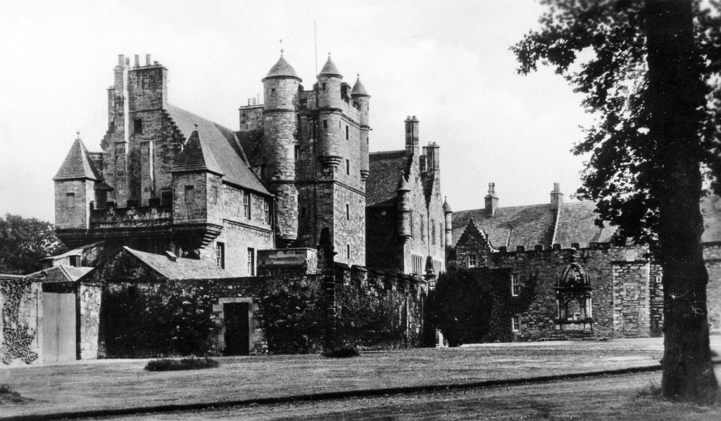 Pinkie House, a magnificent old tower house and mansion of the Setons, later held by the Hays and then the Hopes, and now part of Lorettoi School, in Musselburgh in East Lothian in southeast Scotland.