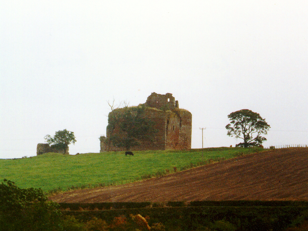Cessford Castle, a brooding, atmospheric and once strong medieval stronghold, long held by the Kerr family who built Floors Castle, and now in a peaceful location near Kelso in the Borders in southern Scotland.