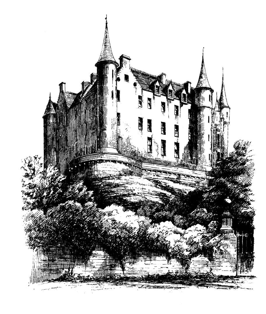 Dunrobin Castle, the maginficent, fairytale old stronghold of the Earls and Dukes of Sutherland in beautiful gardens and grounds, by the sea near Golspie in Sutherland in the north of Scotland.