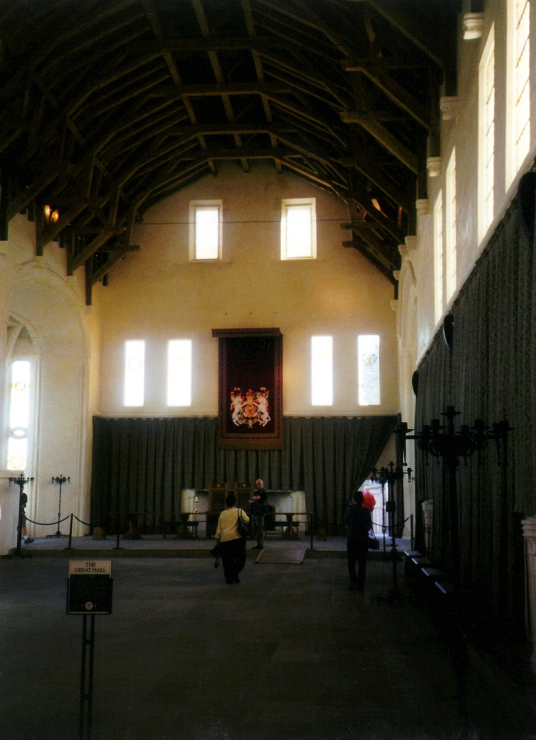 Great Hall of Stirling Castle, a magnificent royal stronghold and palace of the monarchs of Scotland, with the sumptuous palace of James V, great hall, chapel royal, king's old buildings, old kitchens and much else, above the historic burgh of Stirling in