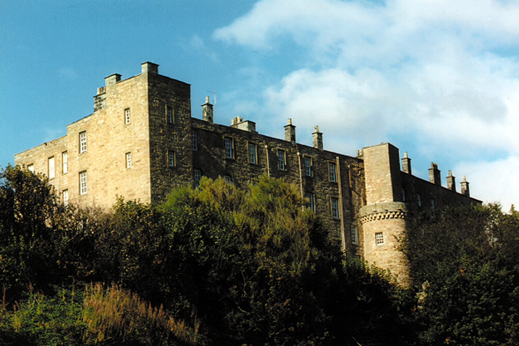 Wemyss Castle is an old castle and mansion, long held by the Wemyss family, on cliffs above the sea on the north shore of the Firth of Forth, some miles from Kirkcaldy in Fife in Scotland