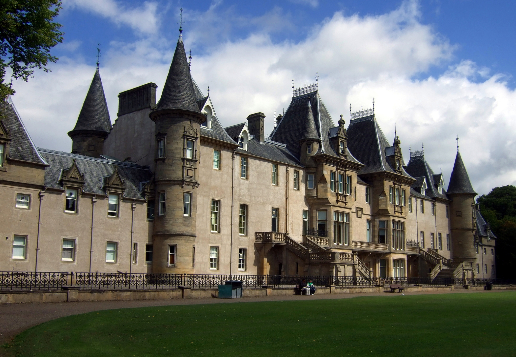 Callendar House, a large and an impressive mansion house incorporating an old castle, standing in a fine wooded spot in a public park near Falkirk in central Scotland and held by the Livingstones, the Boyds and then by the Forbes family.