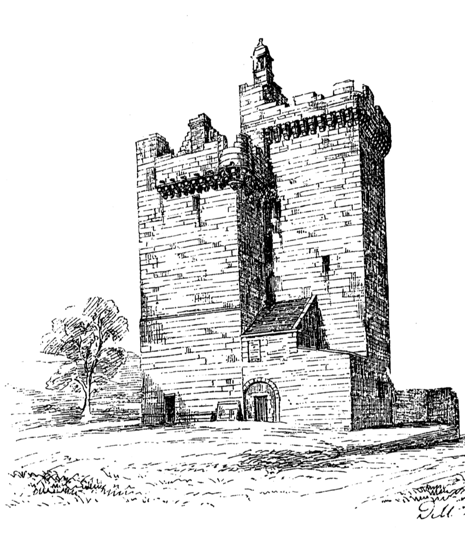 Clackmannan Tower, an impressive and picturesque old tower house of the Bruces in a prominent spot