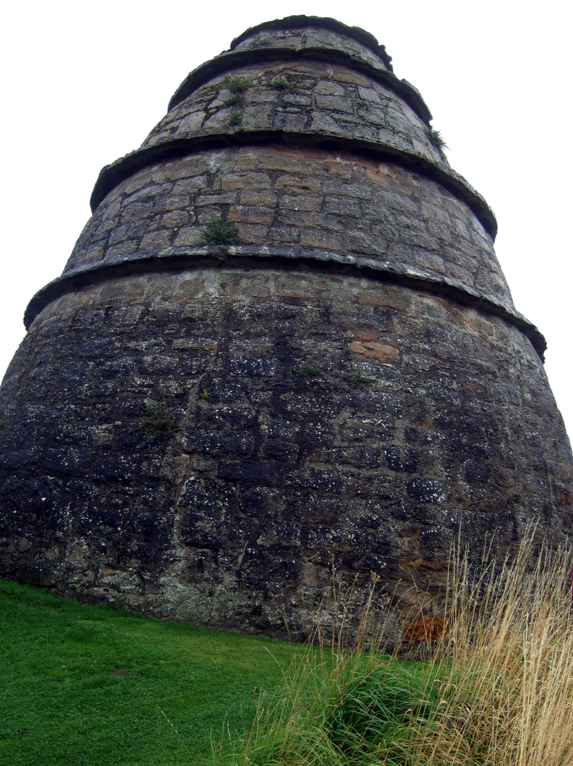 Doocot (dovecote) of Aberdour Castle, a scenic old stronghold castle with gardens and orchard of the Douglas Earls of Morton, in the pretty village of Aberdour in Fife.