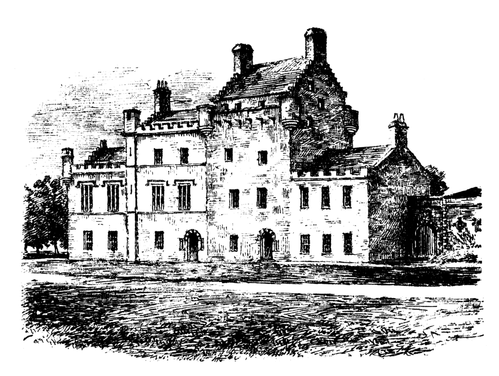 Bemersyde House, an imposing house with an old tower at the core, long a property of the Haigs and set in fine gardens and grounds, and near the attractive burgh of Melrose in the Borders.