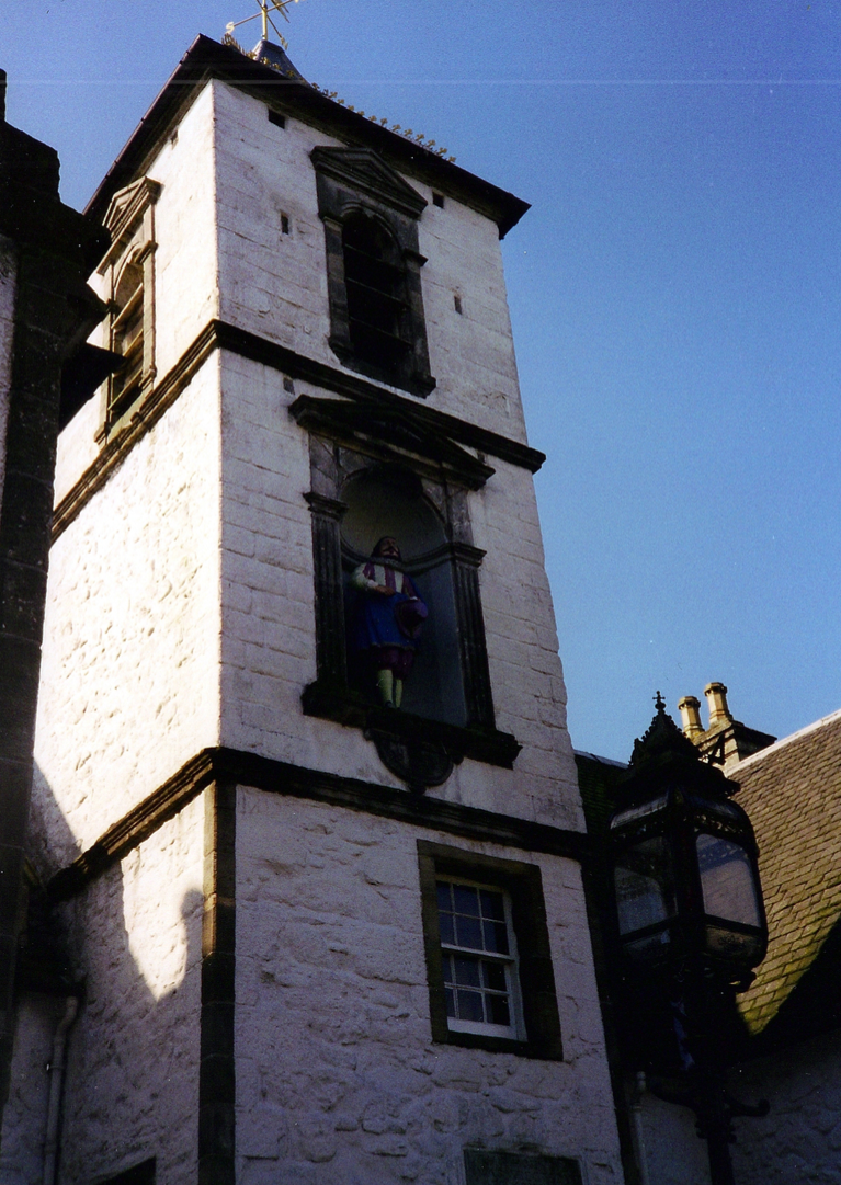 Cowane's Hospital and Guildhall, an atmospheric old building, endowed by John Cowane, a wealthy merchant to care for guild members who had fallen on hard times, in the historic burgh of Stirling.