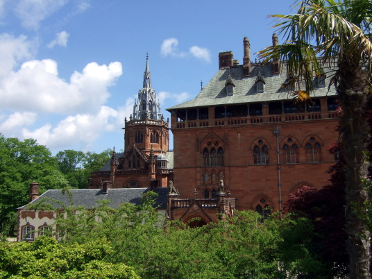Mount Stuart House is probably the most sumptuous mansion in Scotland with a spectacular interior including the magnificent Marble Hall and Chapel, built by the Crichton-Stuart Marquess of Bute and in lovely landscaped gardens and grounds by the sea, some