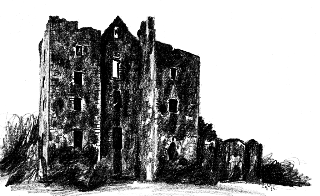 Castle Kennedy is a large ruinous old tower house of the Kennedys and then the Dalrymples, set in beautiful expansive gardens in the policies of Lochinch Castle, near Stranraer in Galloway in southwest Scotland.