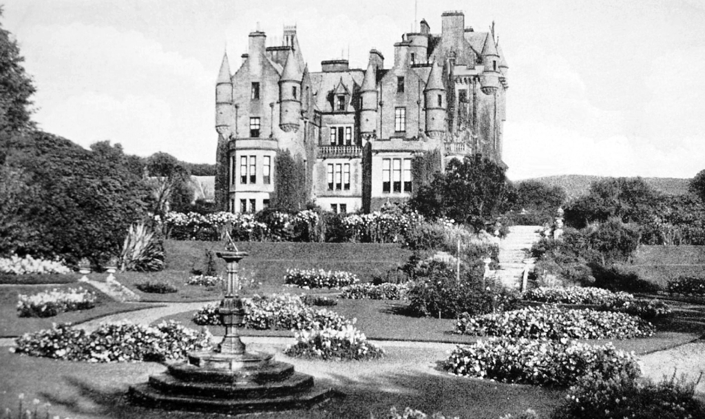 Lochinch Castle, near Castle Kennedy is a large ruinous old tower house of the Kennedys and then the Dalrymples, set in beautiful expansive gardens in the policies of Lochinch Castle, near Stranraer in Galloway in southwest Scotland.