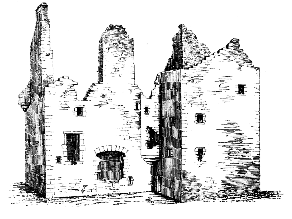 Forter Castle, a handsome restored tower house, held by the Ogilvies and then by the MacCombies (or MacThomases), in a quiet and scenic spot in Glen Isla, near Alyth in Angus.