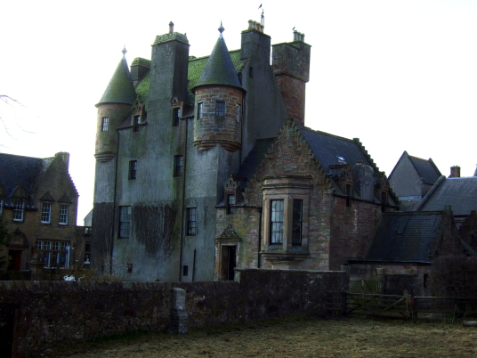 Maybole Castl, a large, impressive and slightly sinister tower house of the Kennedy family of Cassillis, in the interesting Ayrshire burgh of Maybole in southwest Scotland.