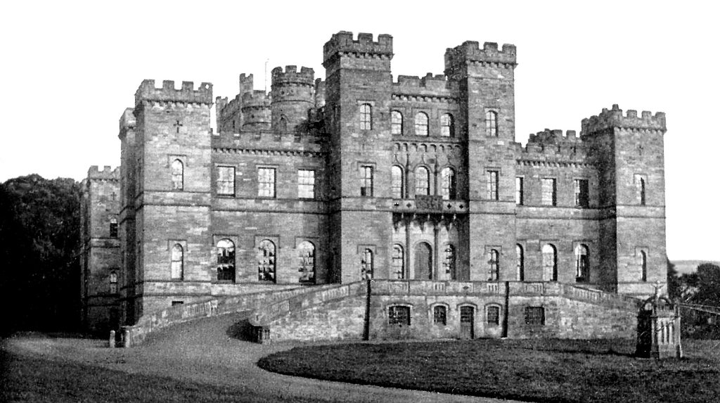 Loudoun Castle, an impressive ruinous mansion and castle, long held by the Campbells of Loudoun and once centre of a theme park, near Galston in Ayrshire in southwest Scotland.