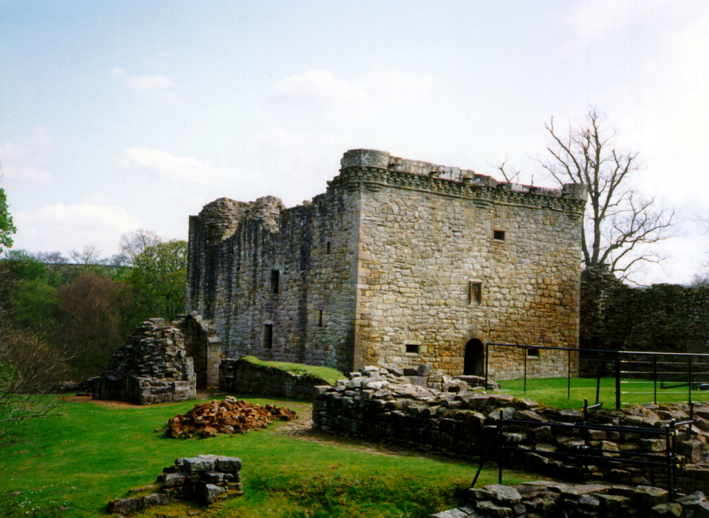 Craignethan Castle is a substantial artillery castle built the influential Hamilton family, now ruinous but with an impressive tower, fortifications and a ditch with a unique caponier, standing in a pleasant wooded location, near Lanark in central Scotlan