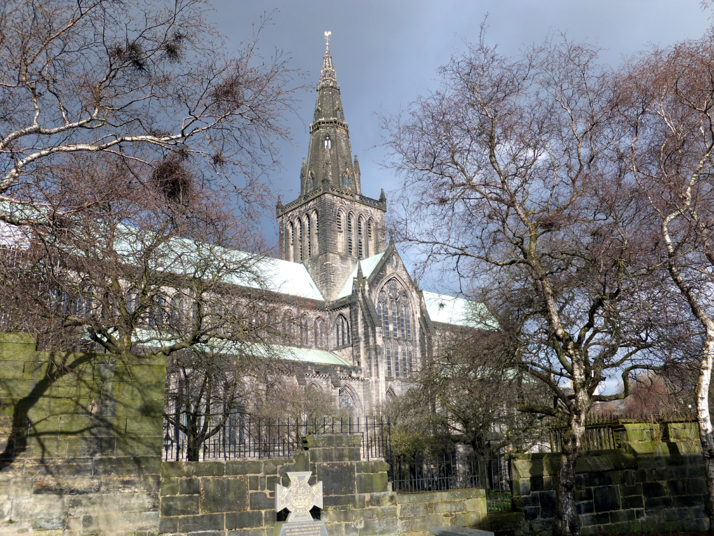 Glasgow Cathedral, near to Glasgow Castle, which although once a strong castle, has gone, replaced by Glasgow Infirmary in Scotland's largest city.