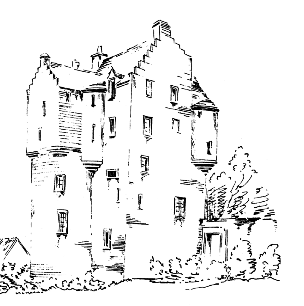 Lauriston Castle, an attractive old castle and mansion, held by several families including the Napiers and Reids, in fine grounds and gardens in the Davidsons Mains area of Edinburgh.