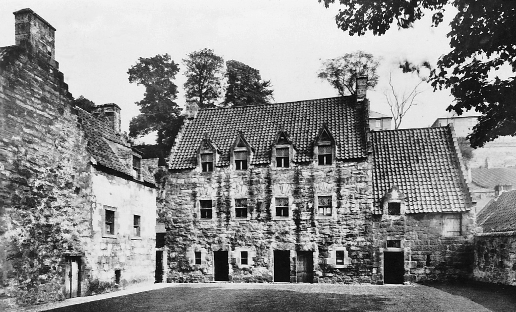 Culross Palace, an atmospheric old building with some outstanding original interior, overlooking the Firth of Forth in the interesting old burgh of Culross in Fife, and once held by the Bruce family.