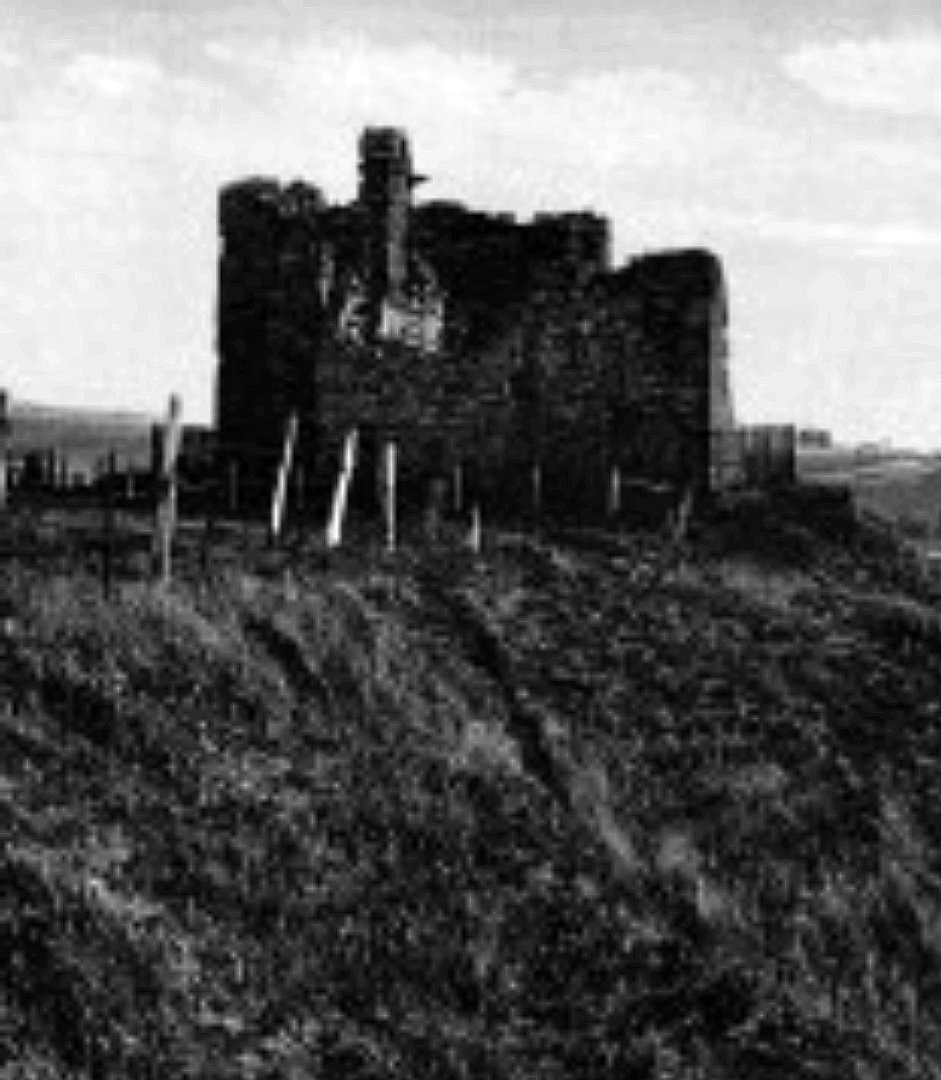 Helmsdale Castle was an old tower house, long a property of the Sinclairs and the scene of a famous poisoning, but it has been demolished, standing at the village of Helmsdale in Sutherland in the far northeast of Scotland.