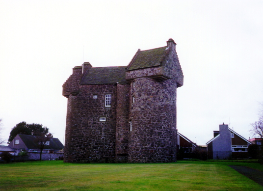 Claypotts Castle, an impressive and well-preserved old tower house, built by the Strachans and owned by Graham of Claverhouse, in the West Ferry part of Dundee in eastern Scotland.