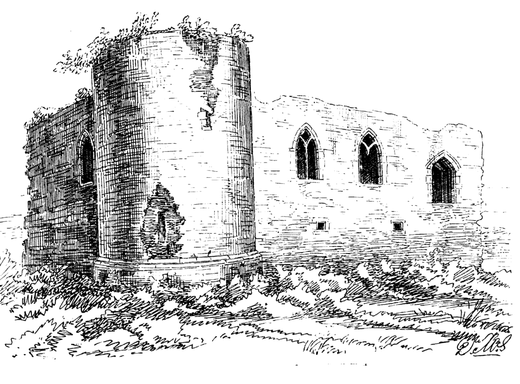 Rait Castle, a scenic ruined old hall house castle, held by the Raits, Cummings and Mackintoshes, and some miles from Nairn and Inverness in the north of Scotland.