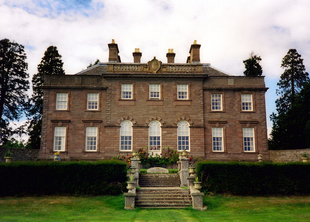 House of Dun, a scenic old mansion house set in beautiful gardens and grounds, long a property of the Erskines and located some mile from Montrose in Angus in northeast Scotland.