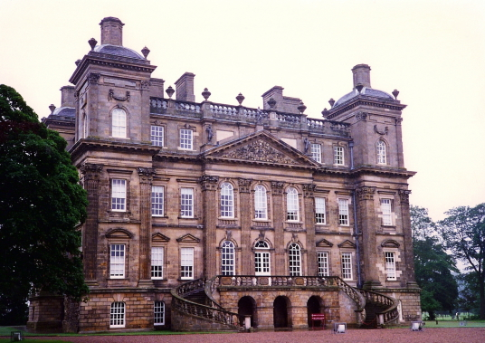 Duff House, a magnificent classical mansion, built for the wealthy Duff family by William Adam, now an art gallery and standing in landscaped policies, near Banff in Aberdeenshire in northeast Scotland.