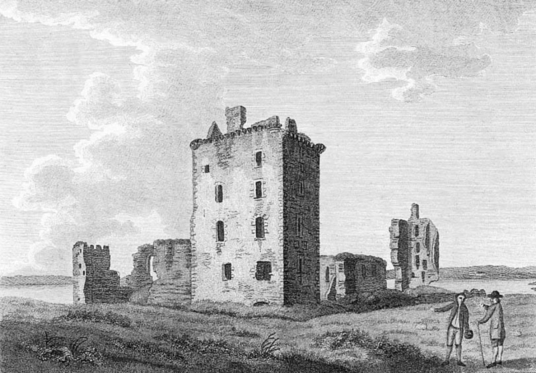 Spynie Palace, a castle despite its name, has one of the most impressive towers in Scotland, and was held by the Bishops of Moray who had their cathedral at Elgin in Moray in northeast Scotland.