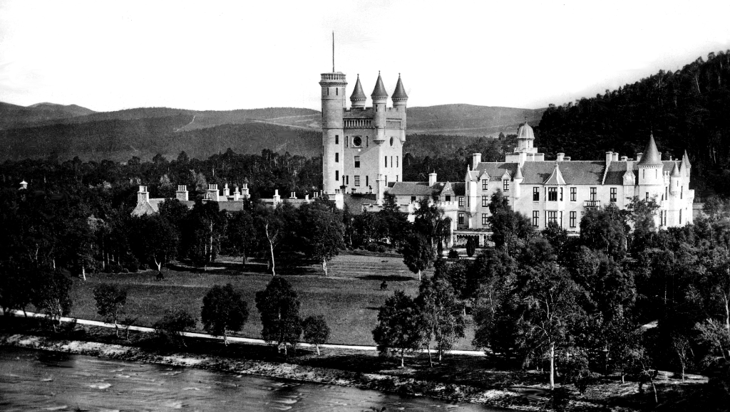 Balmoral Castle is a large rambling mansion in with lovely gardens and grounds in a beautiful mountainous location, built by Queen Victoria and Prince Albert and still a royal residence used by Queen Elizabeth II, near Crathie and Ballater in Royal Deesid