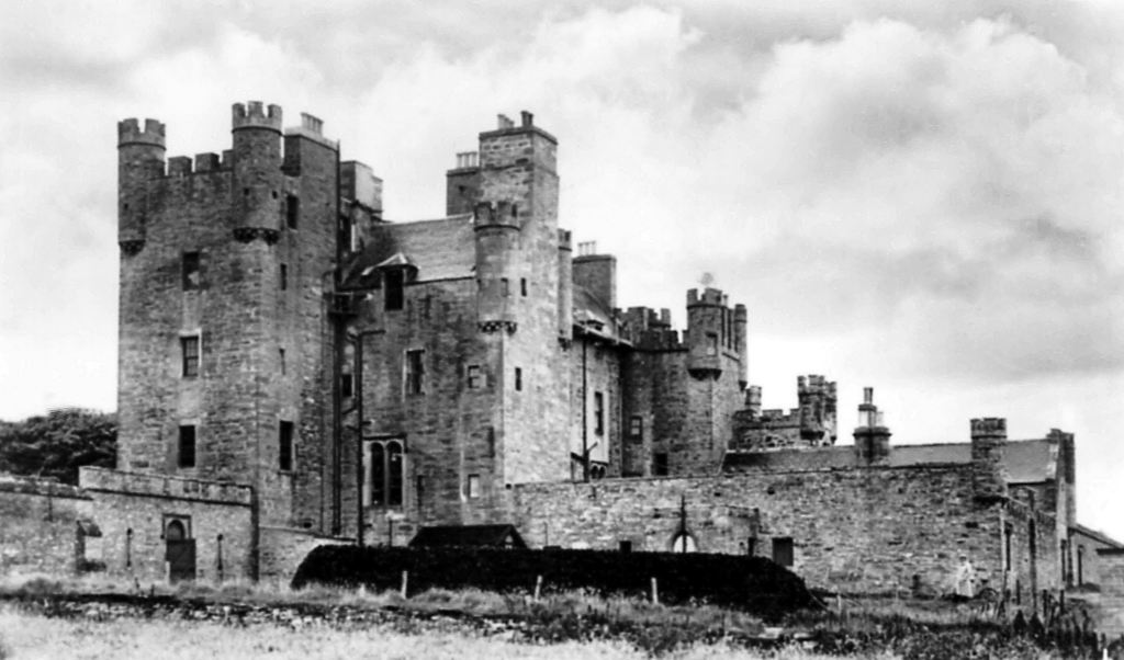 Castle of Mey, a fine old tower house with later additions, set in lovely gardens near Castletown in Caithness in the far north of Scotland, and long held by the Sinclair family before becoming home to Her Majesty Queen Elizabeth, the Queen Mother, who di