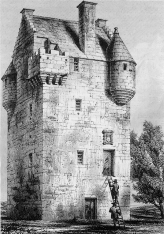 Cotton Tower is a fine, well-preserved tower house, long held by the Innes family, and near Elgin in Moray in north-east Scotland.