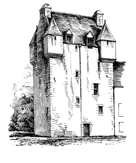 Meggernie Castle is a fine castle in a pretty mountainous spot in Glen Lyon, once held by the Menzies family and then the Stewarts, with an intriguing ghost story, located near Killin in Highland Perthshire in Scotland.