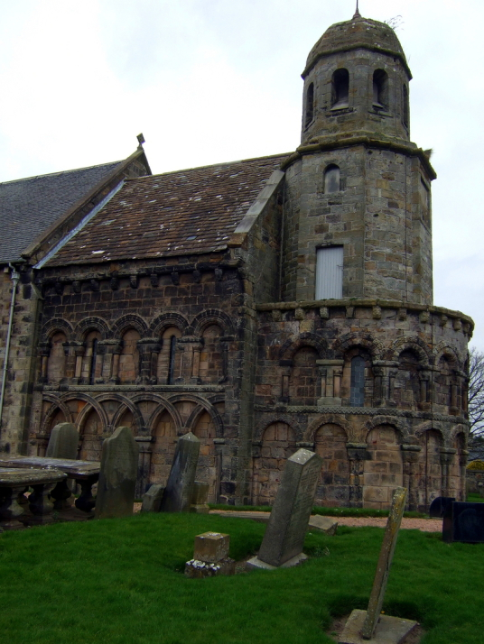 St Athernase Church, Leuchars, near Earlshall is a fine tower and old house, in lovely gardens, long a property of the Bruces, near Leuchars in Fife in central Scotland.