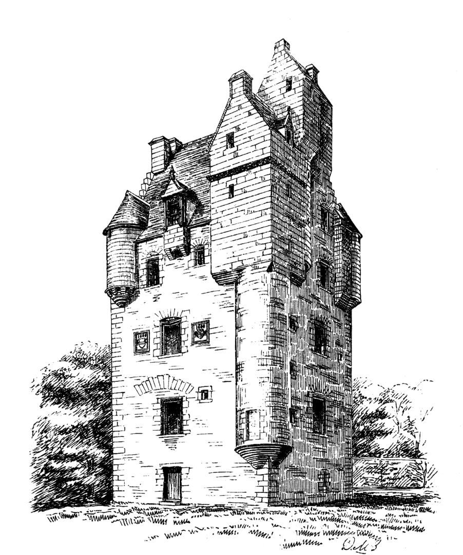 Amisfield Tower is a large, impressive, well-preserved and elaborate old tower house, by Amisfield House, a later mansion, long a property of the Charteris family, and located in a fine spot near Dumfries in southern Scotland.