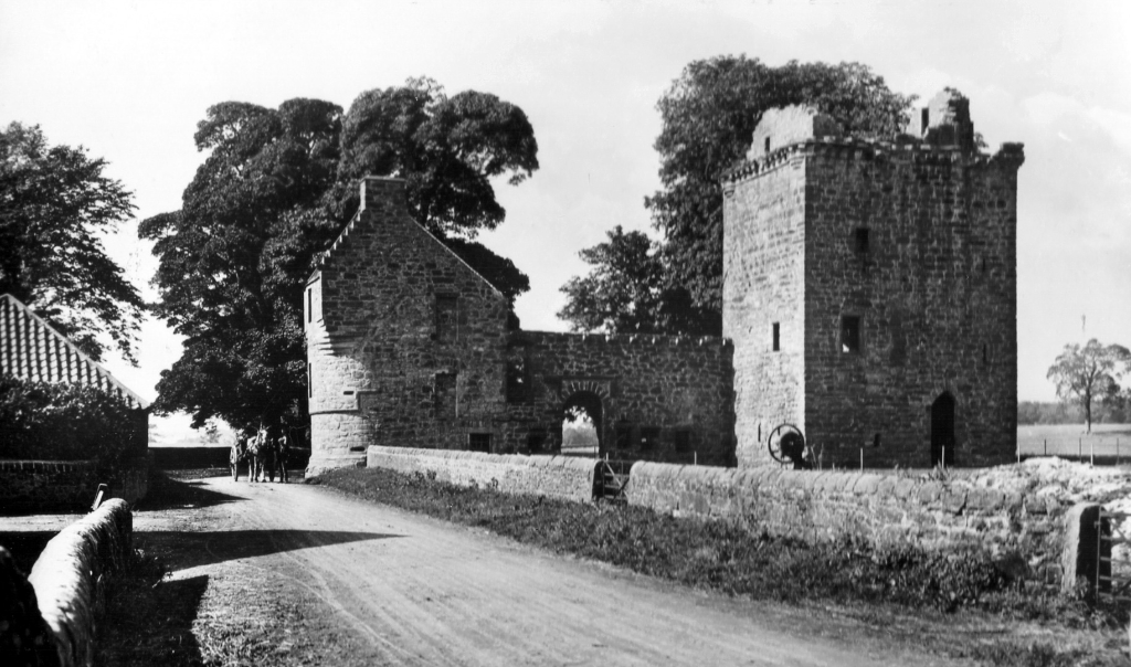 Burleigh Castle, an interesting old medieval ruinous stronghold, near Kinross in Perthshire and held by the Balfour family for many generations.