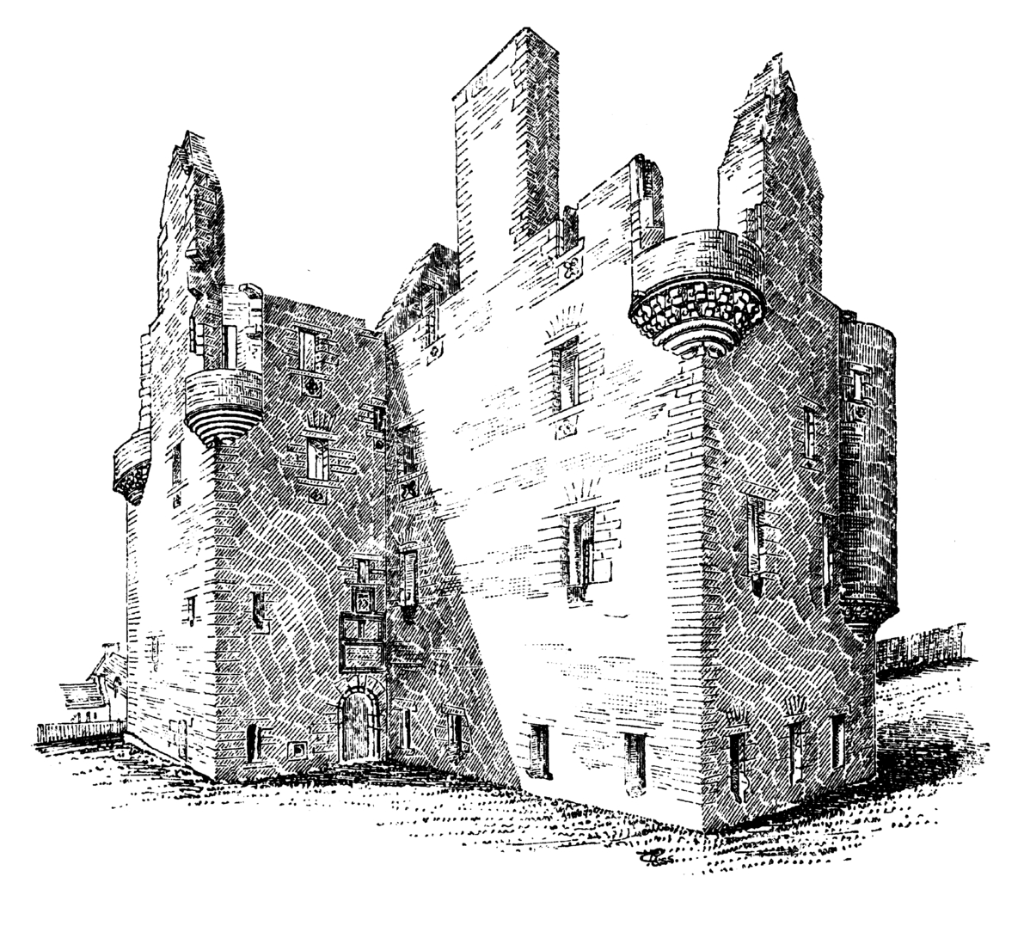 Scalloway Castle is a substantial and imposing old ruinous castle, at Scalloway on the mainland of Shetland, and built by the notorious Patrick Stewart, Earl of Orkney.