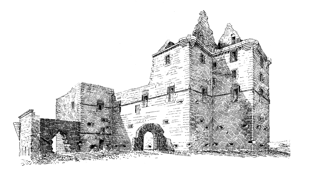 Noltland Castle, a large, impressive and well-defended old ruinous stronghold on the Orkney island of Westray, built by the Balfour family, incomers to the islands.