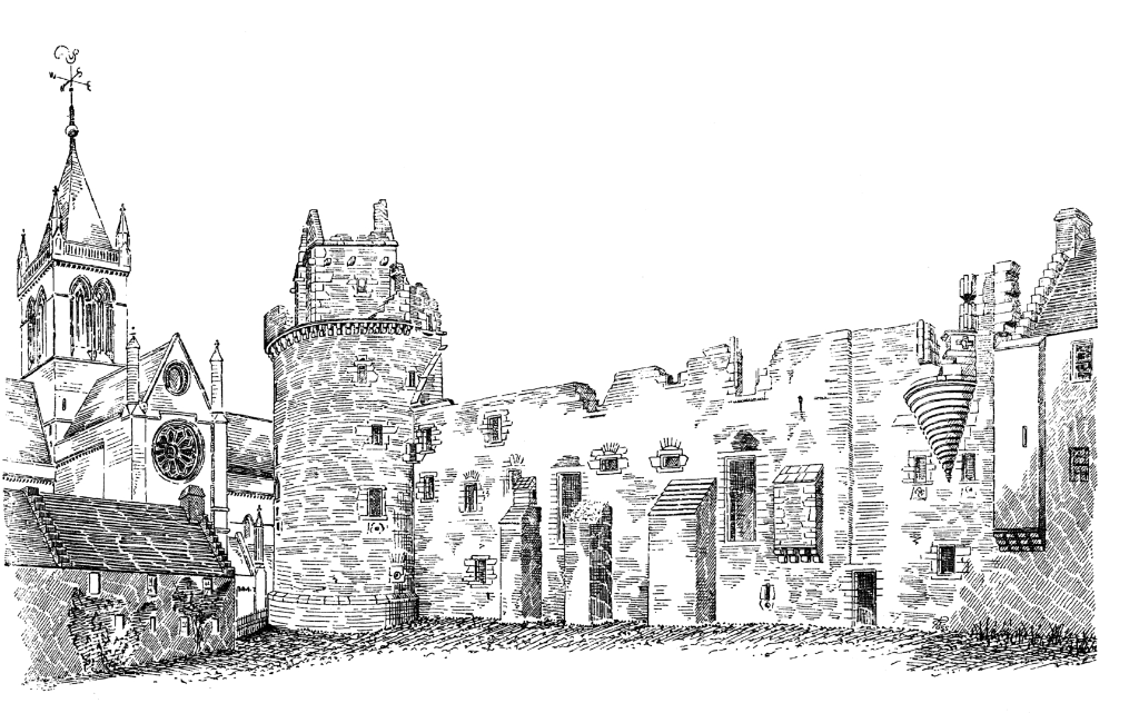 Bishops's and Earl's Palace, a fabulous complex of two ruinous palaces by St Magnus Cathedral in Kirkwall, the capital of Orkney.